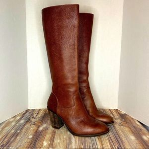Lucky Brand- Espositoh Red/Brown Tall Leather Boot